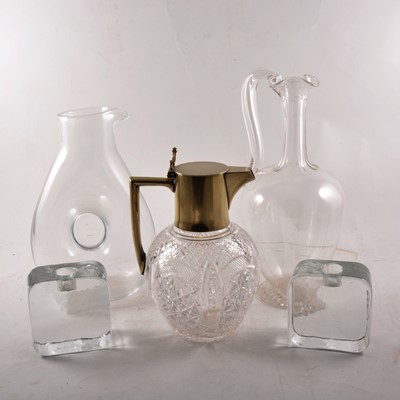 Lot 9 - A number of glass decanters and ewers