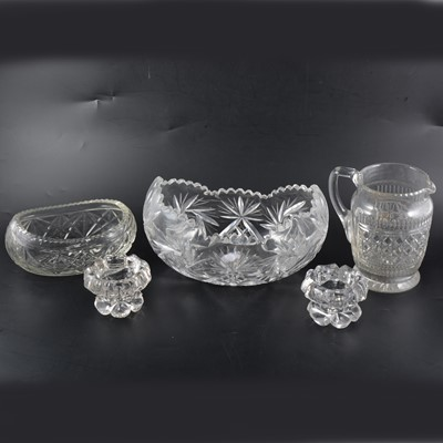 Lot 20 - A collection of cut glass, including fruit bowls and a hors d'oeuvres set