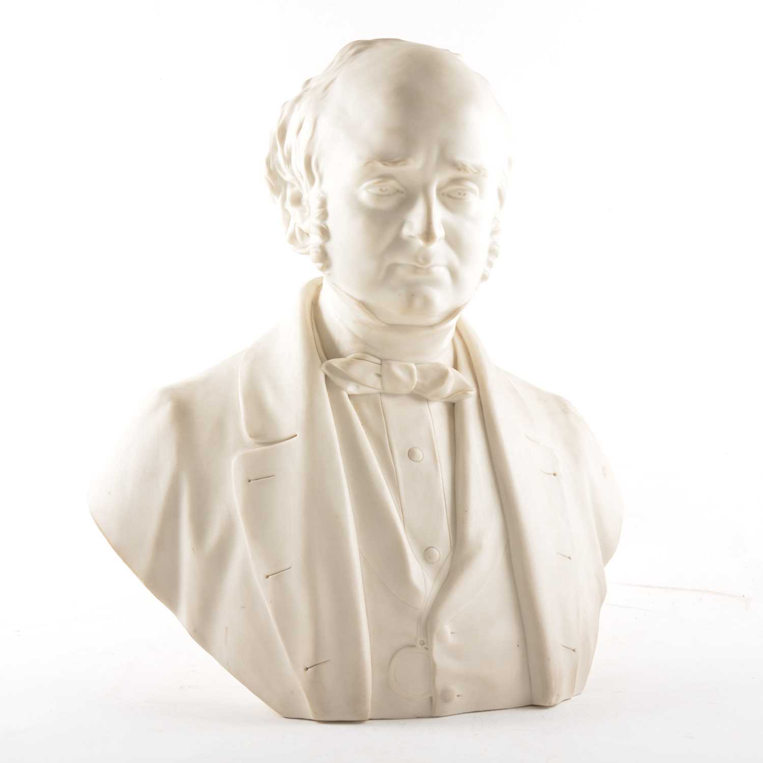 Lot 7 - A Parian ware bust of Dr Todd FRS, by Matthew Noble