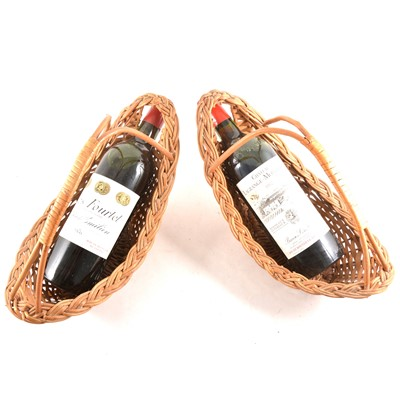 Lot 98 - Two bottles of French wine: Clos Fourtet Saint-Emilion, First Grand Cru, 1976, and Chateau Lagrange-Monbadon, 1982
