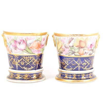 Lot 7-A pair of Staffordshire cache pots