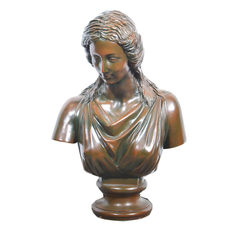 Lot 36-A terracotta bust of a maiden
