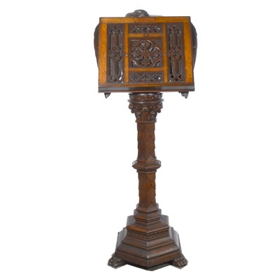 Lot 507 - Victorian carved oak lectern