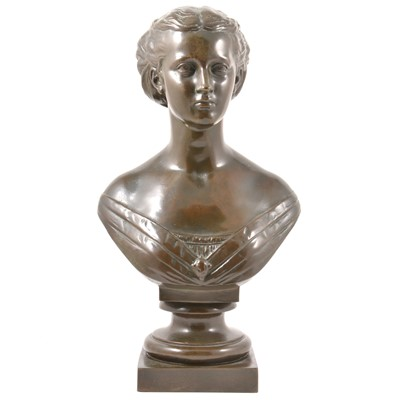 Lot 37-Mary Thornycroft, Princess Alexandra, a bronze bust