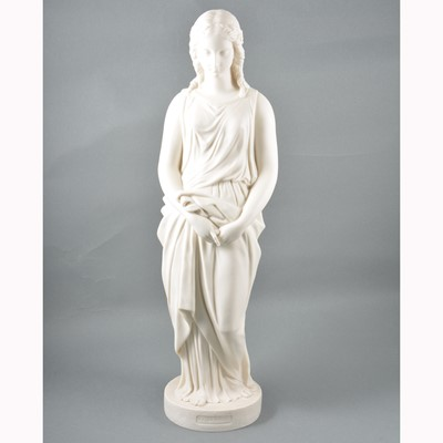Lot 1-Copeland parian statue, Maidenhood