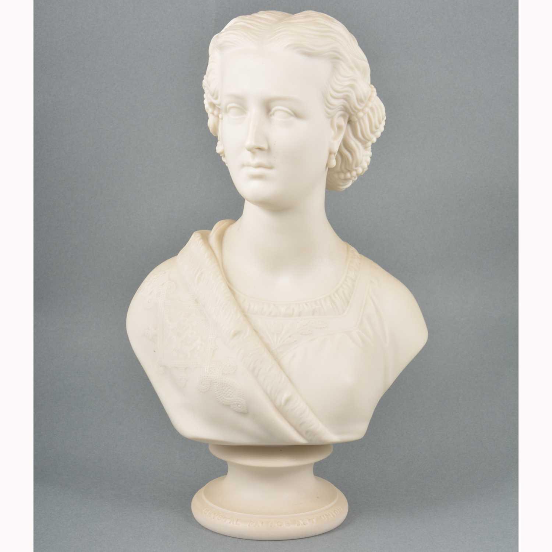 Lot 2-Copeland parian bust, Princess Alexandra