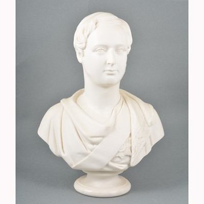 Lot 4-Minton Parian bust, Albert Edward, Prince of Wales