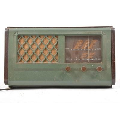 Lot 109 - HMV vintage valve radio, Model 1115.