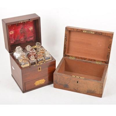 Lot 94 - A 19th Century mahogany chemist's chest, and walnut box.