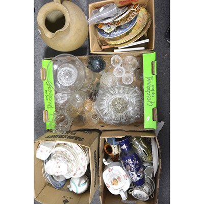 Lot 20 - Five boxes of assorted household ceramics and glass