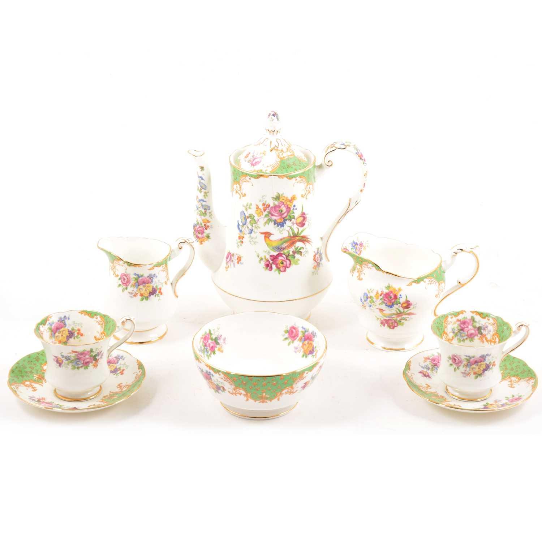 Lot 46 - A Paragon China tea and coffee set, Rockingham pattern