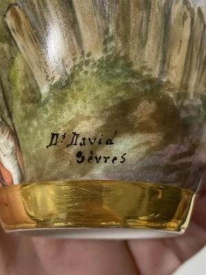 Lot 21-A Sevres porcelain vase