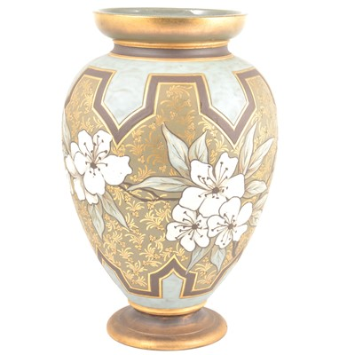 Lot 14-Large Doulton Silicon vase by Eliza Simmance