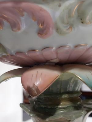 Lot 50 - A large Continental porcelain figural table centre.