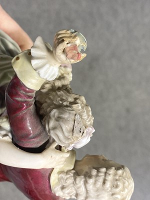 Lot 22 - Two Continental porcelain figural groups