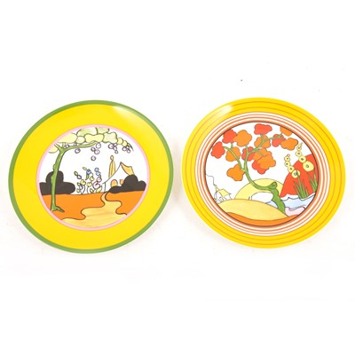 Lot 14 - Wedgwood - Two limited edition Clarice Cliff commemorative plates