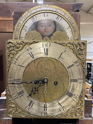 Lot 20 - A George III oak and mahogany longcase clock, signed Matthew Tootell, St. Helen.
