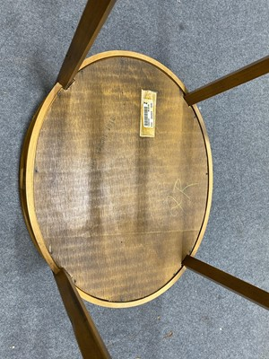 Lot 41 - An Edwardian style beechwood and banded display table.