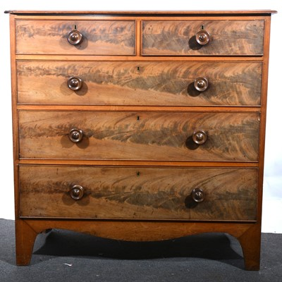 Lot 47 - A Victorian mahogany chest of drawers.