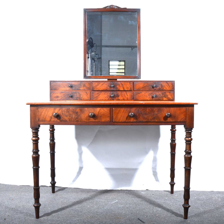Lot 27 - A Victorian mahogany dressing table, adapted.