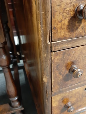Lot 2 - A Victorian burr walnut twin pedestal desk.