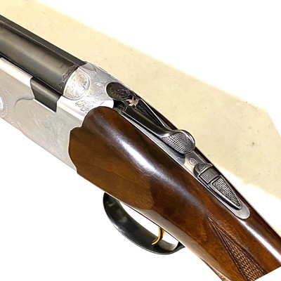 Lot 52-Beretta double-barrel over-and-under 12-bore shotgun