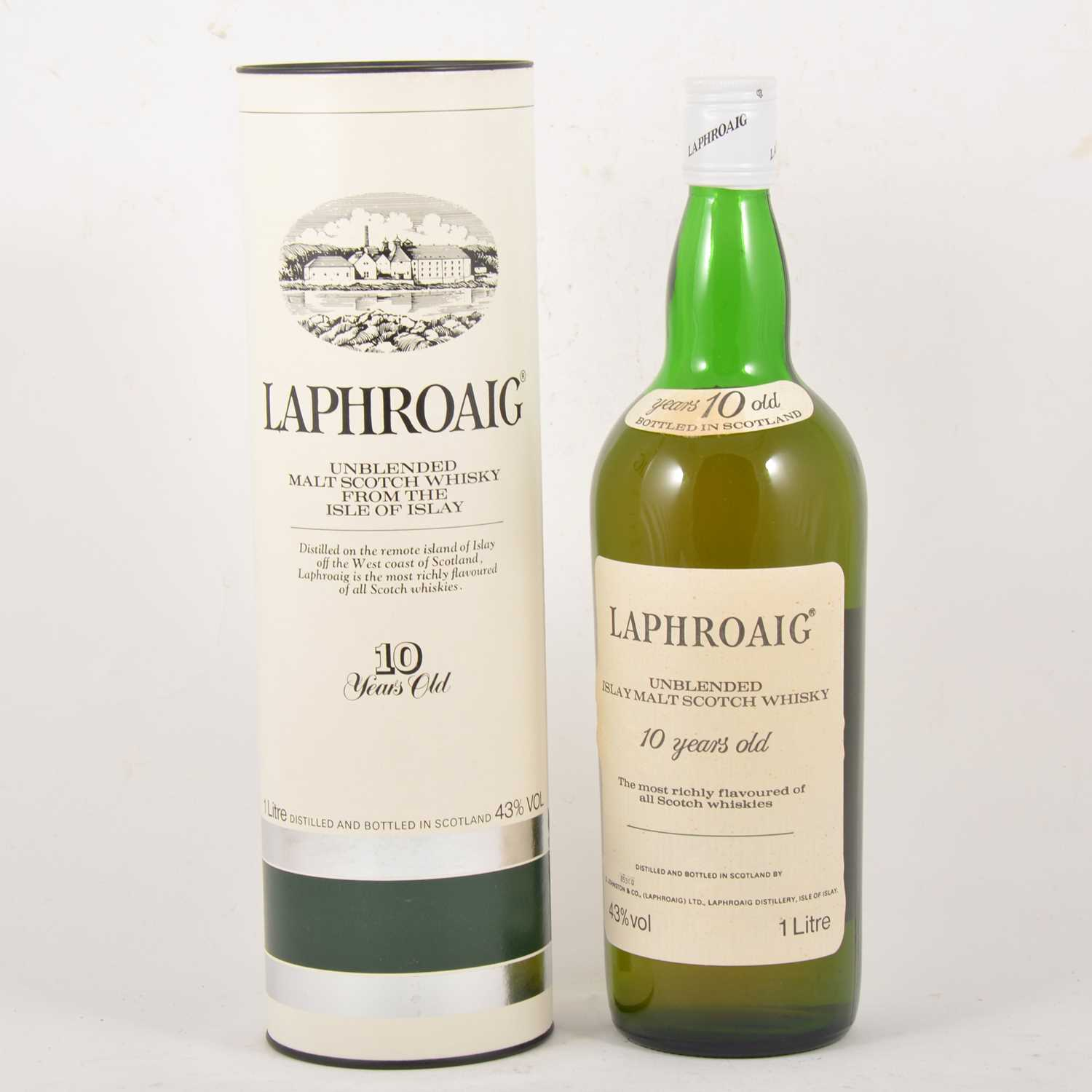Lot 401 - Laphroaig, 10 year old, single Islay malt Scotch whisky, early 1980s bottling