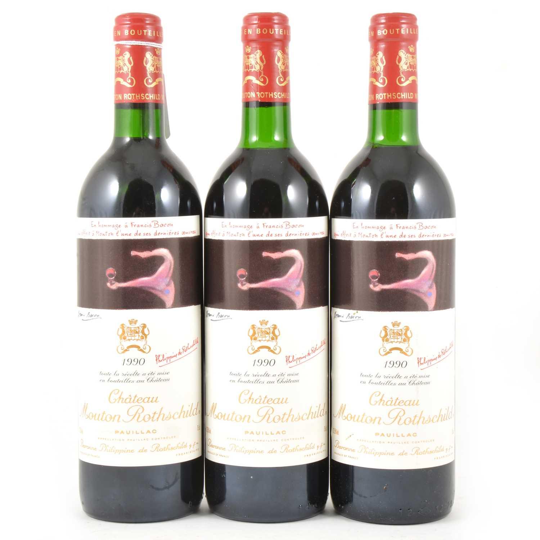 291 - Ch Mouton Rothschild, Pauillac, 1990