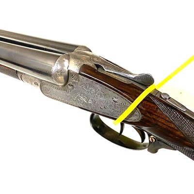 Lot 51-Clarke & Clarke 12 bore double barrel side-by-side shot gun