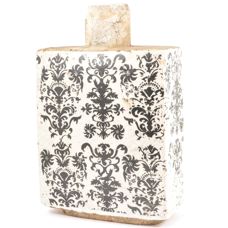Lot 12-Stoneware wine flask