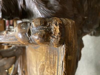 Lot 424 - Black Forest carved spruce/pine bench