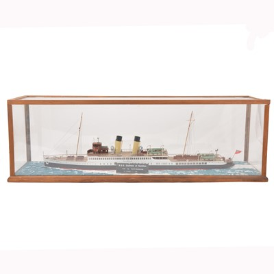 Lot 48-Model of the SS Duchess of Hamilton Glasgow by J G Wood, circa 1990s