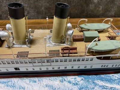 Lot 48-Model of the SS Duchess of Hamilton Glasgow by J G Wood, circa 1990s