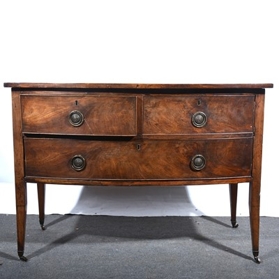 Lot 36 - A Victorian mahogany bowfront sideboard, of small size.