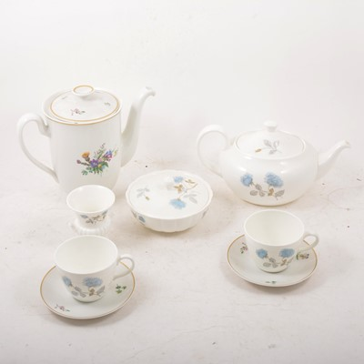 Lot 45 - Two part coffee services - Wedgwood and Royal Copenhagen