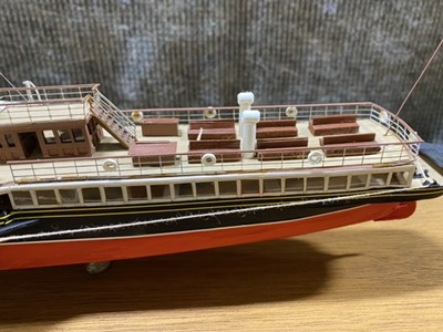 Lot 50-Model of a paddle steamer 'Lord of the Isles' by J G Wood, circa 1990s