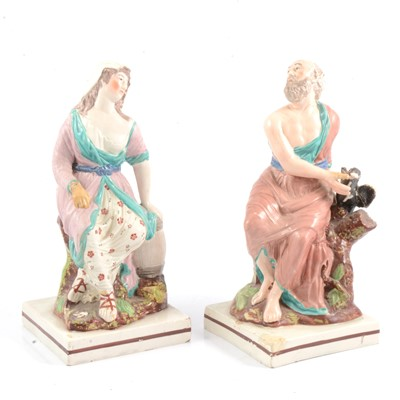Lot 31 - Two Staffordshire figures, probably Enoch Wood.