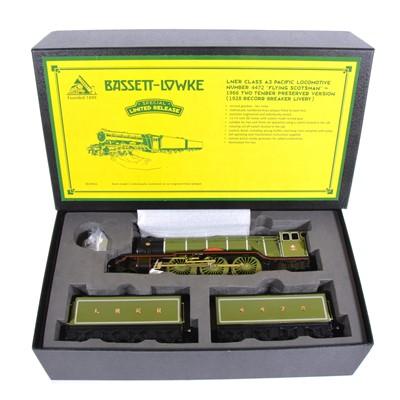 "Lot 1 - Bassett-Lowke O gauge model railway engine; BL99022 LNER class A3 Pacific ""Flying Scotsman"""