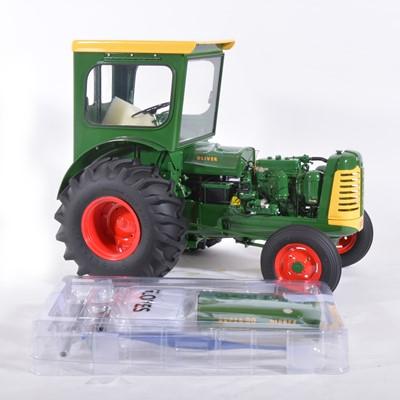 Lot 13 - Franklin Mint 1:12 scale mode tractor; Oliver Super 99 diesel