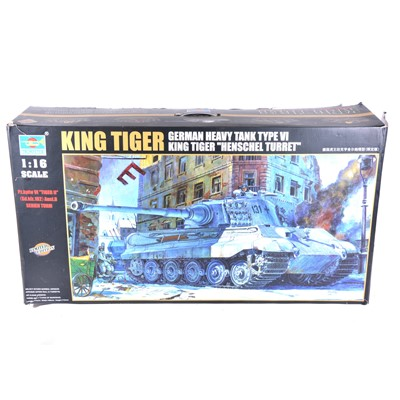 Lot 14 - Trumpeter 1:16 scale model kit; King Tiger German heavy tank type VI 'Henschel Turret'