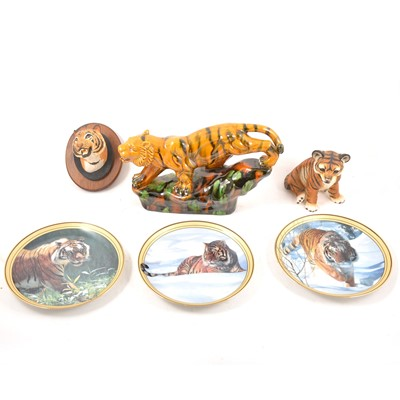Lot 74 - After David Shepherd, Tigers, print and other tiger collectables