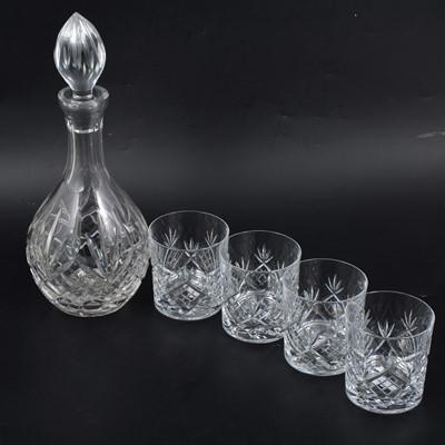 Lot 32 - Cut glass bowl, drinking glasses