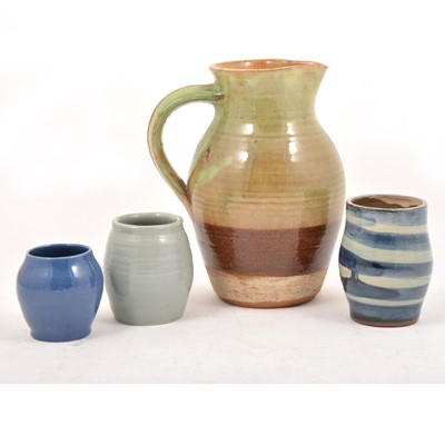 Lot 55 - Sidney Tustin for Winchcombe Pottery stoneware jug and other ware