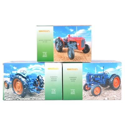 Lot 11 - Three Universal Hobbies 1:16 scale tractors