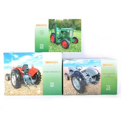 Lot 12 - Three Universal Hobbies 1:16 scale tractors