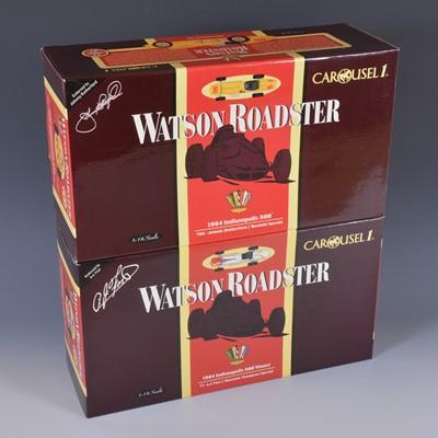 Lot 36 - Two Carousel 1 1:18 scale models; Watson Roadsters