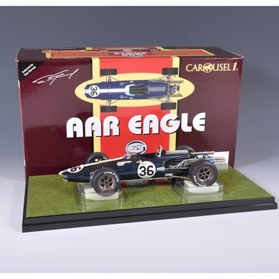 Lot 40 - Carousel 1 die-cast 1:18 scale model; AAR Eagle F1 (1967) Dan Gurney