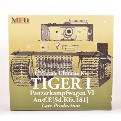 Lot 16 - MFH Model Factory Hero 1:35 scale model kit; Tiger I tank - late production
