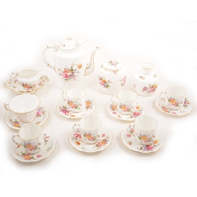 "Lot 55 - Royal Crown Derby ""Posies"" coffee set and related wares."