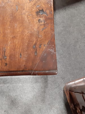 Lot 3 - A 19th century carved oak side table.